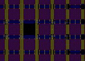 layout capacitor array ece1388 project