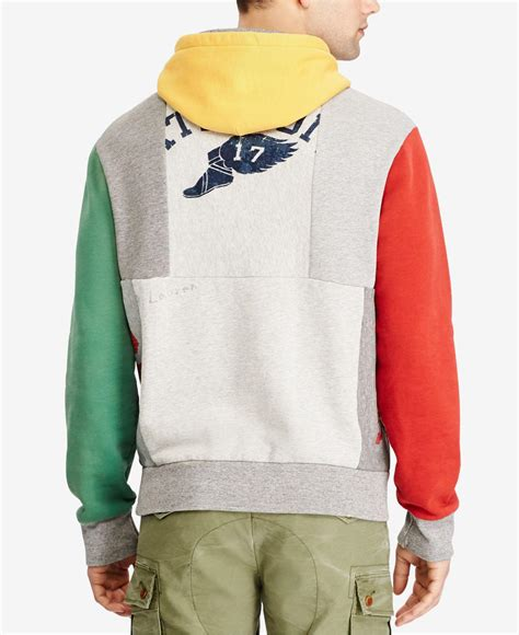 Patchwork Hoodies - polo ralph s patchwork hoodie for lyst