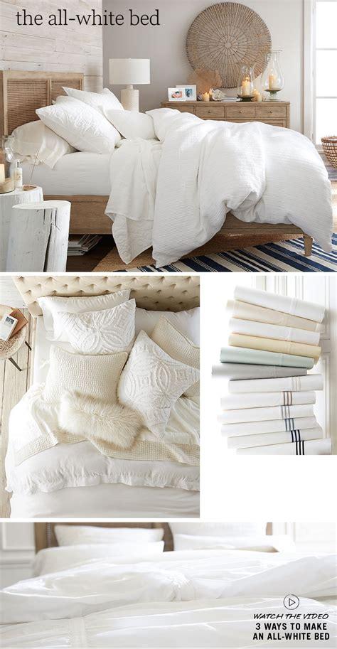 all white bedding all white bedding pottery barn