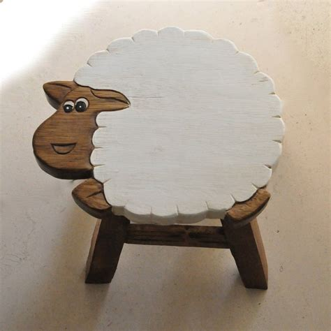 childs wooden sheep stool by thelittleboysroom