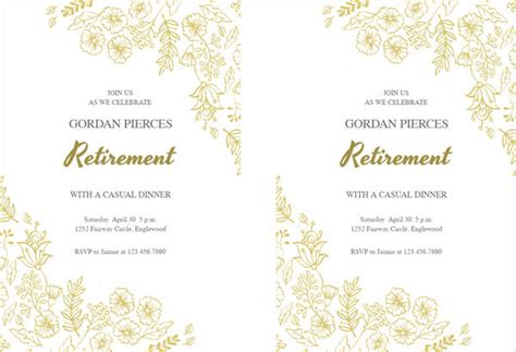 Free Party Invitation Free Premium Templates Retirement Invitation Templates Free Printable
