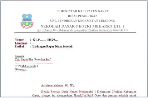 Contoh Rapat Dinas by Contoh Surat Undangan Rapat Dinas Dan Daftar Hadir Rapat