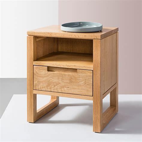 Bedside Desk by Bruno 1 Drawer Bedside Table Solid Oak 42x35x49cm