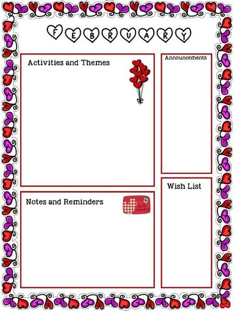 1000 ideas about preschool newsletter templates on