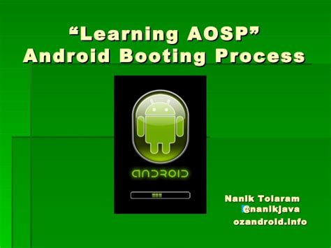 aosp android learning aosp android booting process