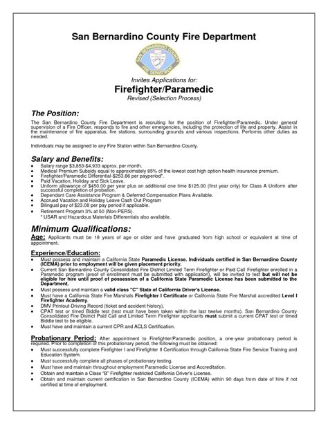 firefighter description for resume resume exles 2017