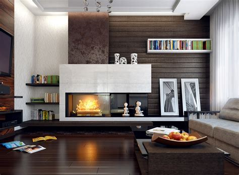 Living Room Decorating Ideas With Fireplace Cool Contemporary Living Room Ideas For Sweet Home