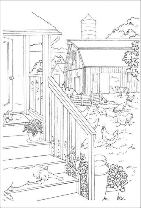 scenic coloring pages country to paint and color 020851 details rainbow resource