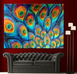 art prints for home decor wall art canvas painting print fine peacock feathers