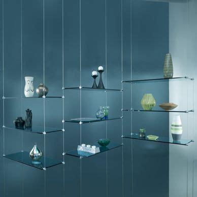 hanging glass shelves interior