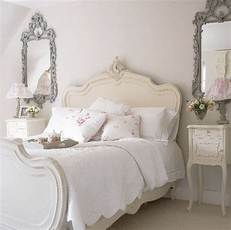 Small Bedroom Ideas For Teenage Using White Shabby Chic Decor With Ornate Silver