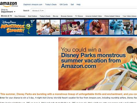 Sweepstakes For Vacations - amazon com monstrous family vacation for 4 sweepstakes