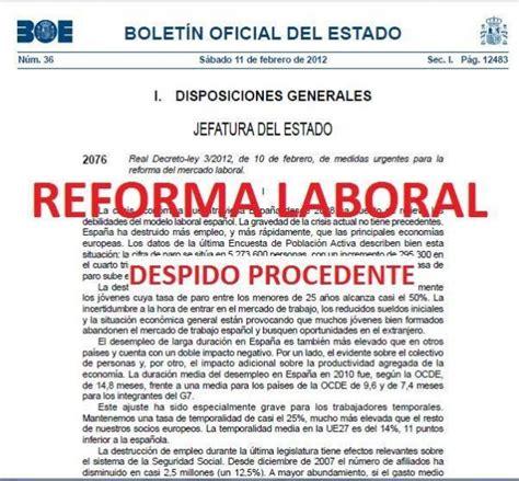 despido por causas objetivas defiende tus derechos c 243 mo me afecta la reforma laboral despido procedente o