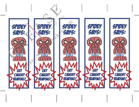 printable bookmarks superheroes spiderman bookmarks superhero instant download