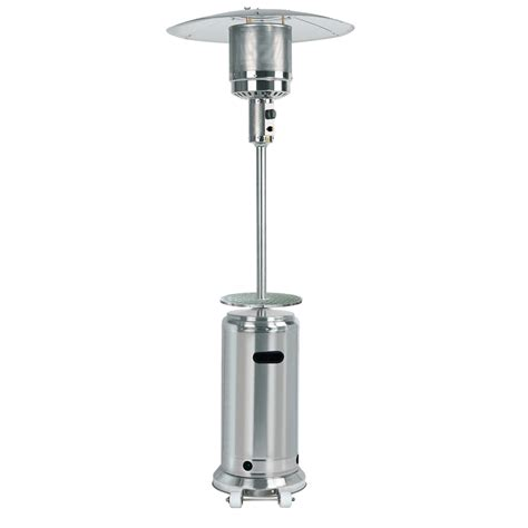 Hiland 87 Tall Stainless Steel Outdoor Patio 41 000btu Stainless Steel Propane Patio Heater