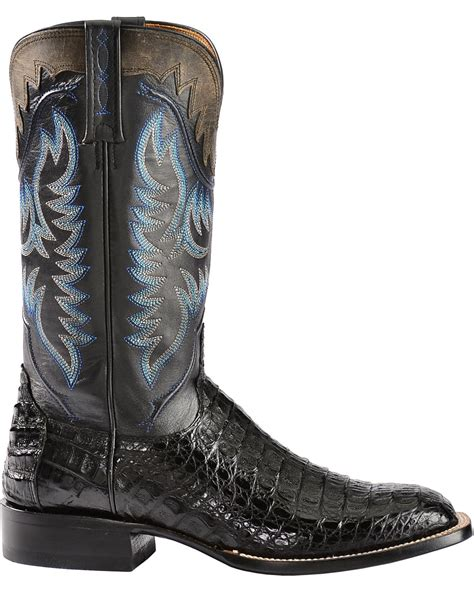 Lucchese Handmade Boots - lucchese s handmade 1883 rhys hornback caiman cowboy