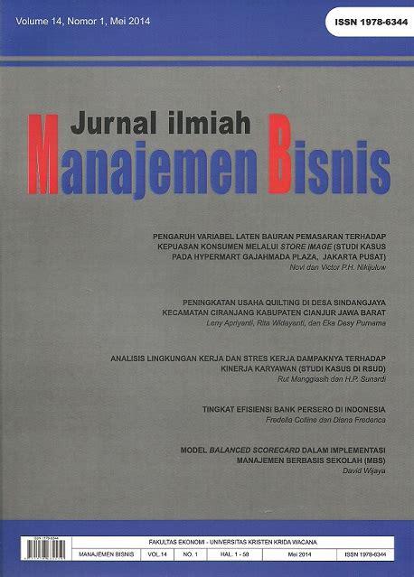 cara membuat jurnal manajemen bisnis jurnal ilmiah manajemen bisnis ukrida neliti