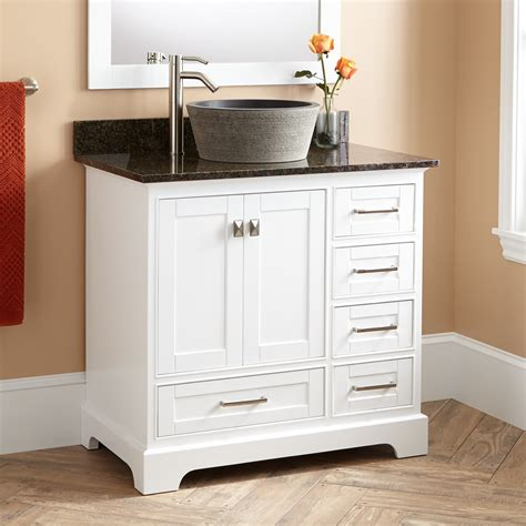 White Vanity With Vessel Sink 36 Quot Quen Vessel Sink Vanity White Bathroom Vanities