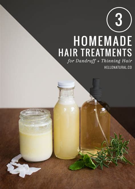 homemade hair thickening treatments 3 homemade treatments for dandruff thinning hair