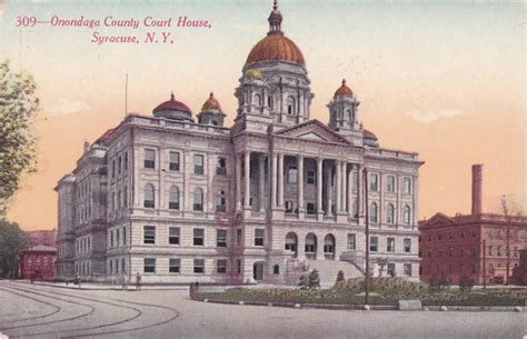 Onondaga County Court Records Playle S Onondaga County Court House Syracuse New York Divided Back Pub