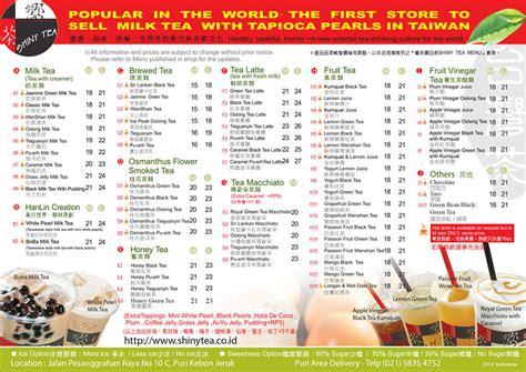 coco jakarta menu shiny tea indonesia drink menu