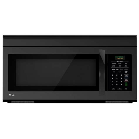 1 6 cu ft the range microwave black lg lmv1683sb 1 6 cu ft the range microwave