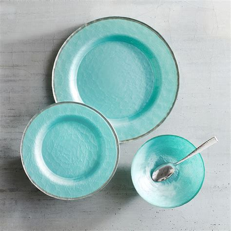 colored glass dinnerware sky blue glass dinnerware everything turquoise
