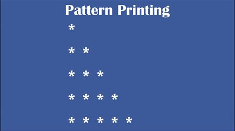 pattern program in java language c practical and assignment programs pattern printing 1