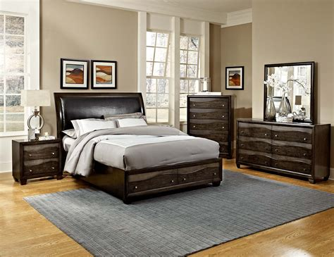 brown and silver bedroom decor homelegance redondo platform bedroom set grey toned
