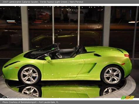 Light Green Lamborghini 2007 Lamborghini Gallardo Spyder In Verde Faunus Light