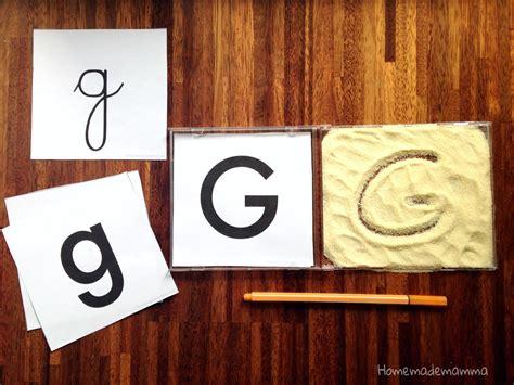lettere da copiare alfabeto in gioco stile montessori