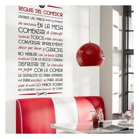 vinilos decorativos comedor vinilos decorativos reglas comedor