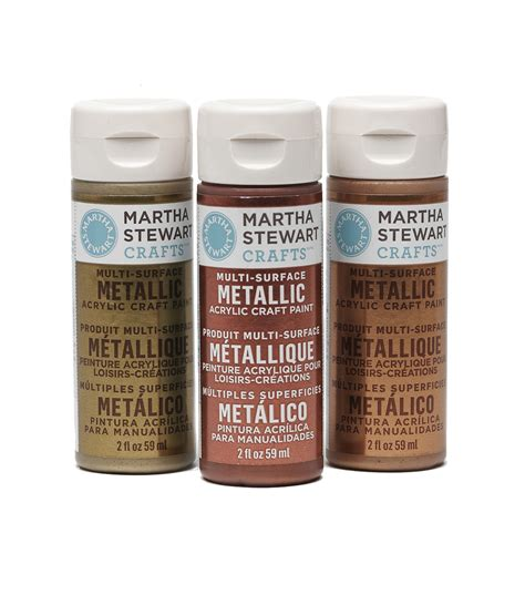 martha stewart metallic acrylic craft paint 2 ounces jo