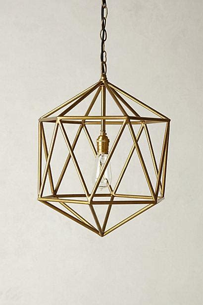 Euclidean Geometrical Brass Cage Pendant Geometric Light Fixtures