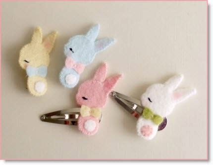 Sweet Bunny Hairclip bunny barrette and brooch plus sweet animal barrette