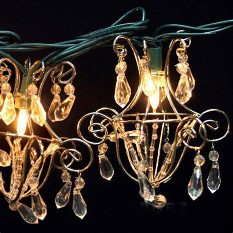 Mini Acrylic Crystal Chandelier String Lights 16ft Chandelier String Lights