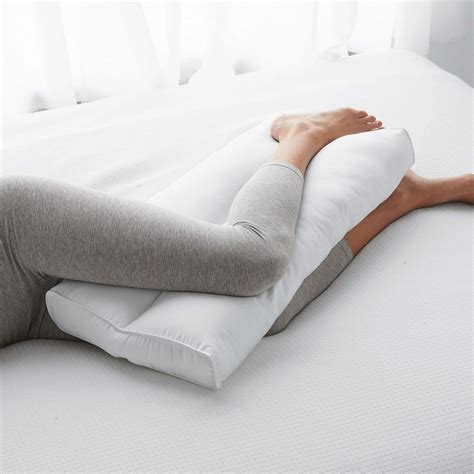 posture pillow for bed posture pillows knee leg pillow the company store