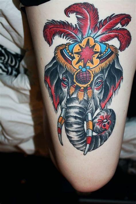 traditional elephant tattoo 78 ideas about circus elephant tattoos on