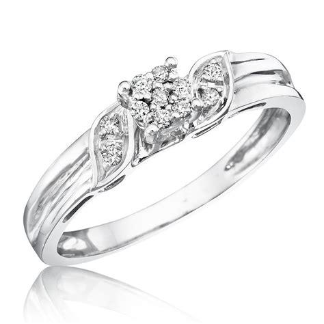 1 10 carat t w s engagement ring 10k white gold