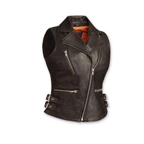 S Leather Biker Vests Classics Free Shipping