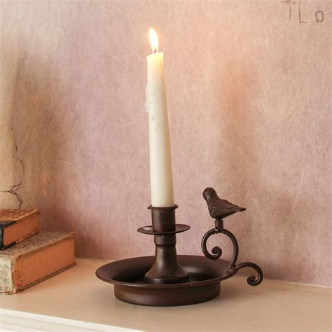 metal bird candle holder by dibor notonthehighstreet
