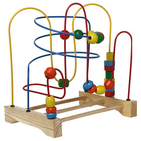 preschool educational toys wooden wire