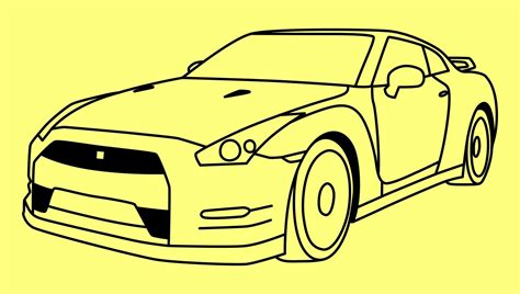nissan skyline drawing step by step how to draw a car nissan gtr fast and furious 7 как