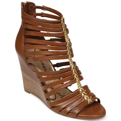 wedge gladiator sandals miccy wedge gladiator sandals in brown