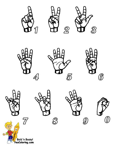 asl numbers 1 100 printable bossy learn sign language american signing free asl