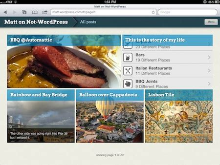 change layout of wordpress blog onswipe plugin creates ipad friendly wordpress sites zdnet