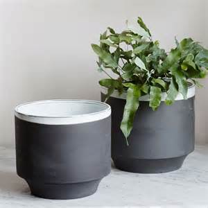 Pots For Plants by Large Grey Plant Pots Set Of Two Vases Plant Pots