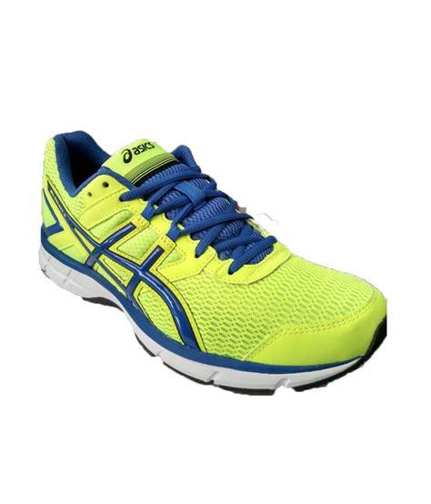 asics sport shoes asics yellow meshtextile sport shoes price in india buy