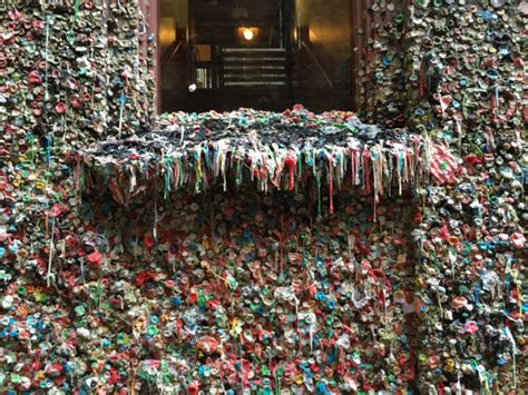 seattle gum wall is getting a scrubbing but the practice chew on this portland gum wall may mimic gross seattle