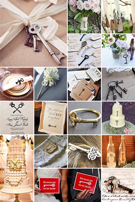 themes with lock key wedding theme